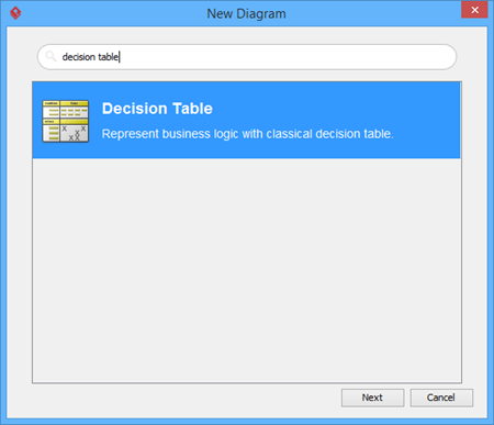 enter decision table
