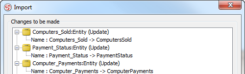 Preview changes before apply import