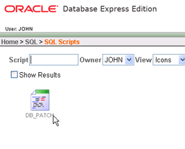 Select available database script