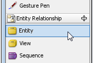 Select Entity in diagram toolbar