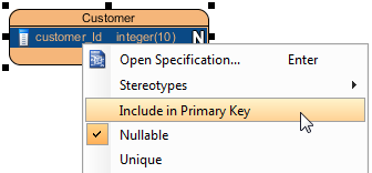 Include column in primary key
