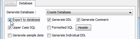 Check on export to oracle database