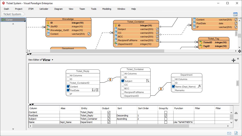 ERD Database View Editor