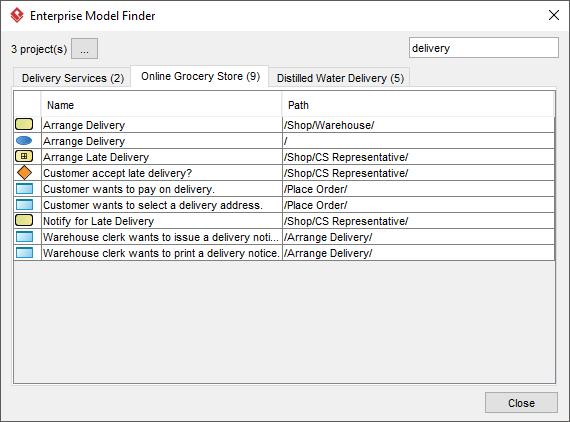 Enterprise Model Finder