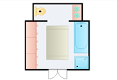 Bathroom sections floor plan template