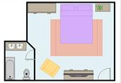Master bedroom floor plan template