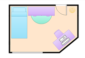Small bedroom floor plan template