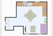 Open kitchen dining room floor plan template
