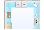 Kitchen layout floor plan template