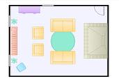 Living room floor plan template