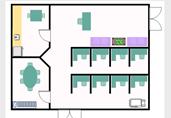 Medium office floor plan template