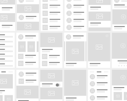 Wireframe symbol library