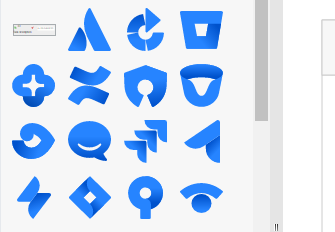 Rich set of wireframe symbols
