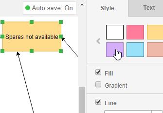 Multiple formatting options
