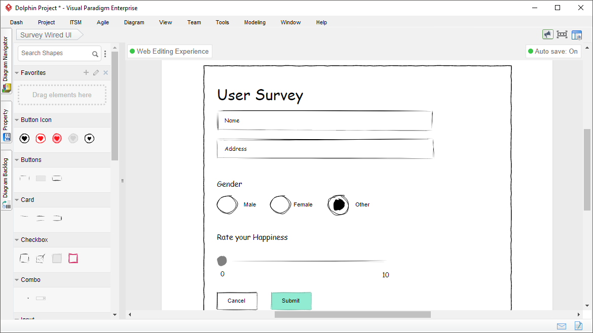 Wired UI Diagram Tool
