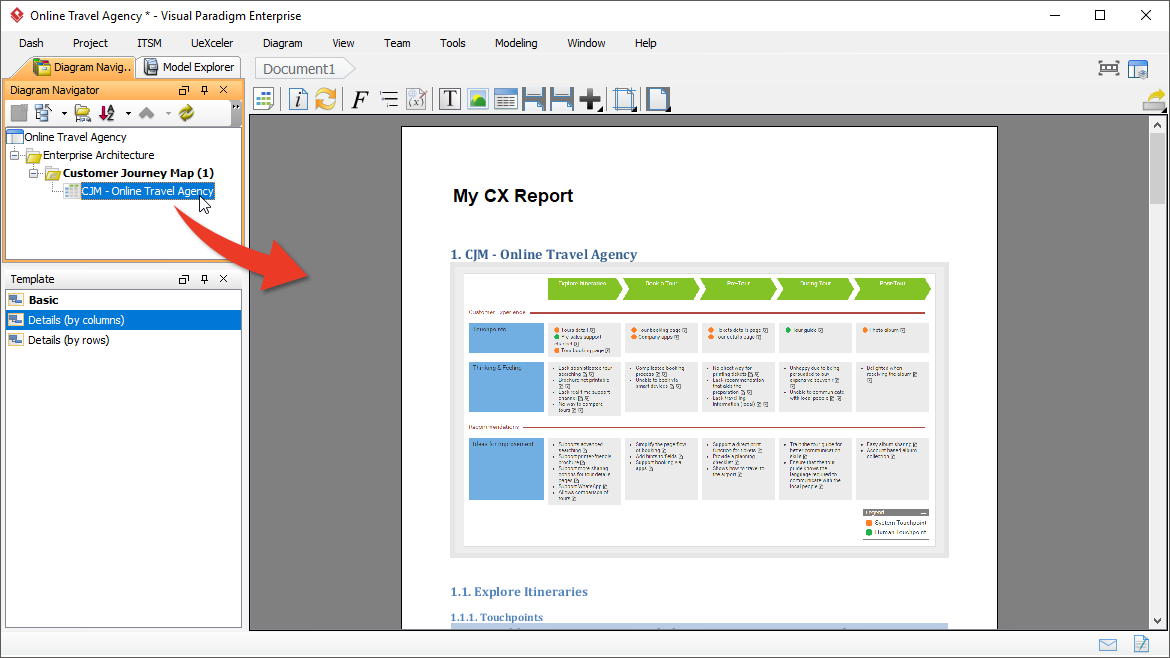 Compose Your Own Journey Map Report