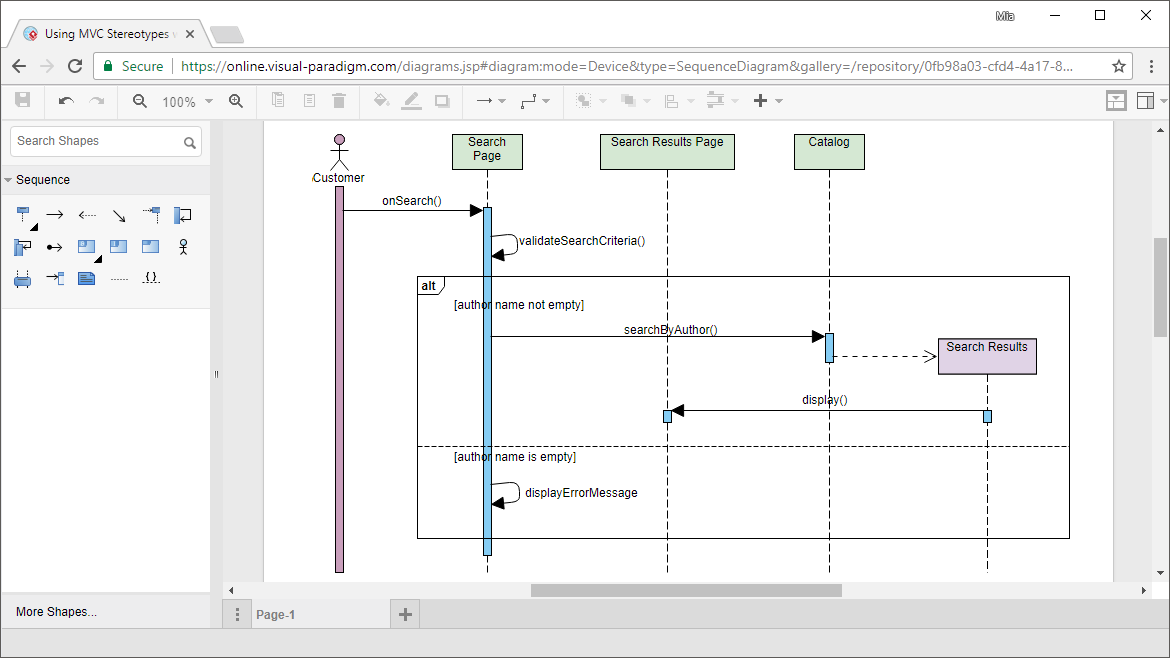 Online UML Sequence Diagram tool