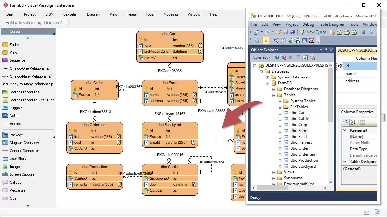 Form ERD from Database