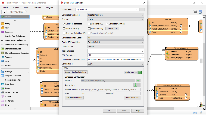 Generate Database from ERD