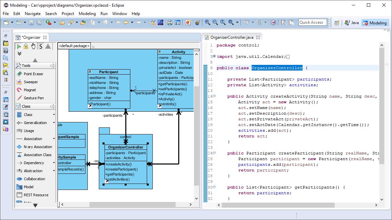 UML Modeling in IDE, through IDE Integration