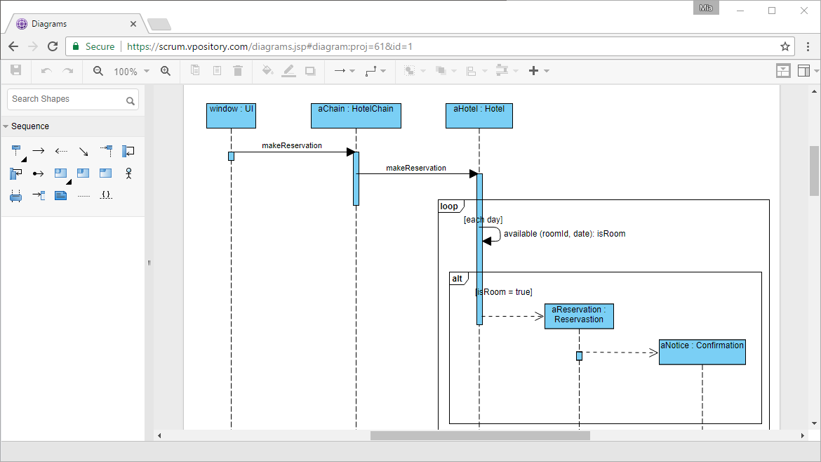 Online Sequence Diagram tool - Draw UML online