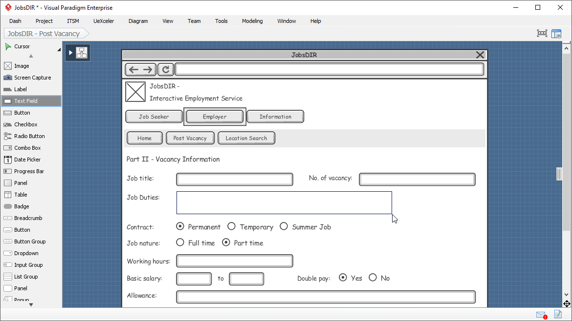 Wireframe tool comes with rich editing functions
