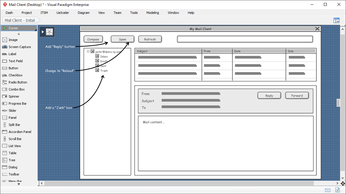 A range of wireframe tools for different devices