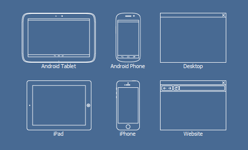 Wireframes for Web, Android, iPhone, iPad and Desktop Apps