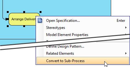 Convert to sub process