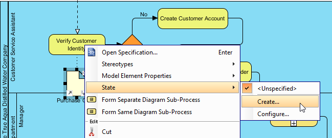 Create data object state