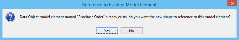 Reference to existing model element