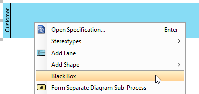 set task as blackbox