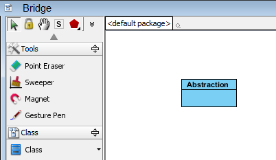 create abstraction class