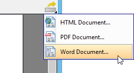 To export Word document