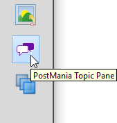 Open PostMania Topic Pane