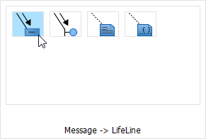 select message to lifeline