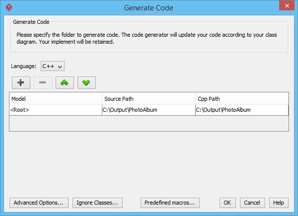generate cpp