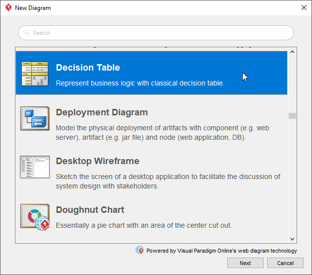 create decision table