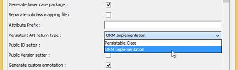 ORM Implementatio as Persistent API return type