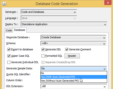 Export to database