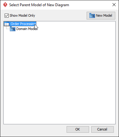 Select project root node