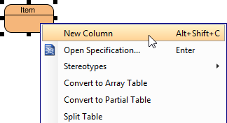 New column