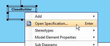 open class spec