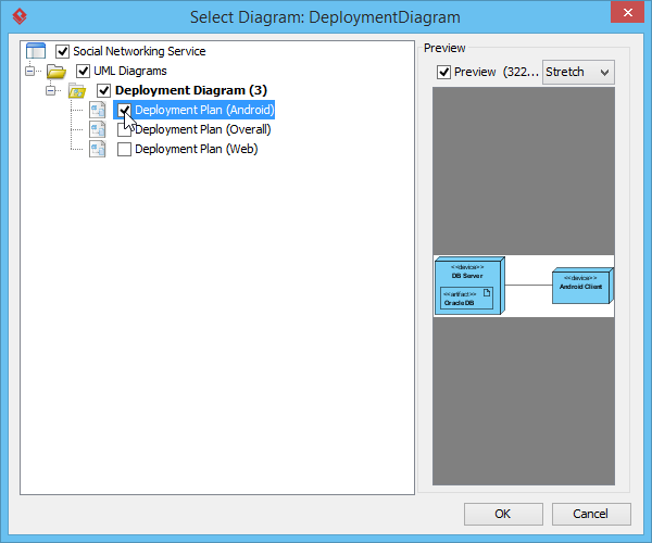 Select deployment diagram