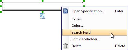 Set field to search field