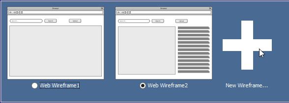 New wireframe