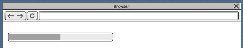 Wireframe progress bar created