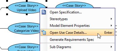 Open use case details