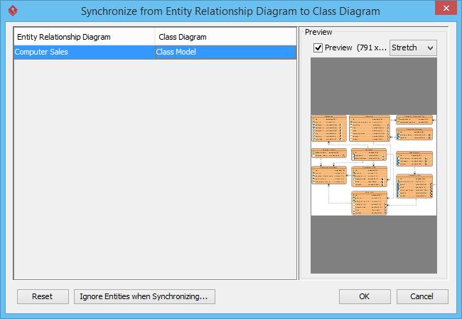 Synchronize ERD to Class Diagram
