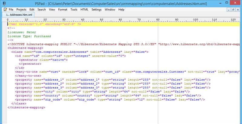 Generated <span class='notranslate'>Hibernate</span> map file